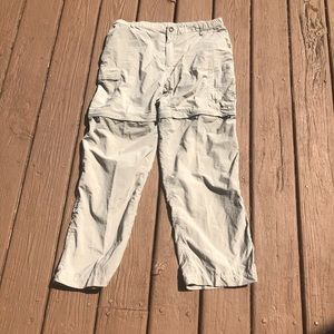 The North Face Tan convertible large hike pants